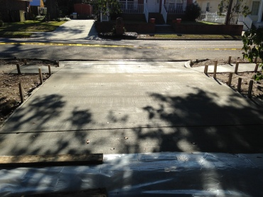 driveway, curb and sidewalk makeover Ocean Springs, Ms