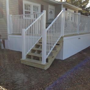 white aluminum handrail Ocean Springs, Ms