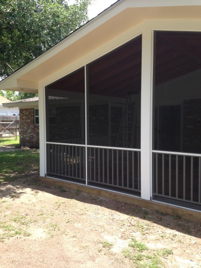 screen under of existing porch