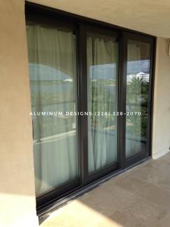 Triple sliding glass doors