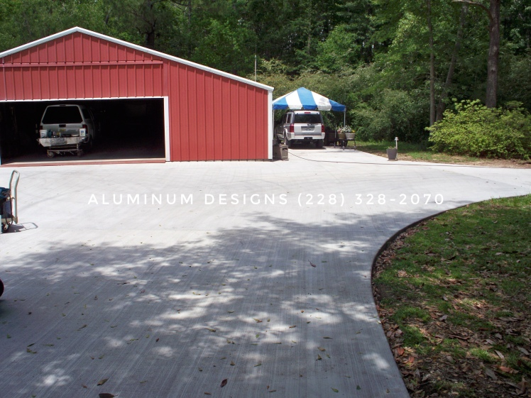 concrete job by aluminum designs 228-328-2070-1