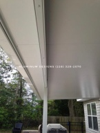 underside of insulated patio cover