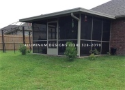 Noninsulated screen room w/ chair rail only